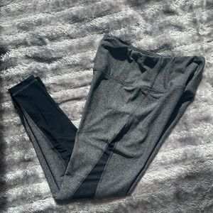 90 Degree Grey/Black High Waisted Leggings